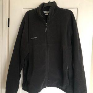 Men's Black Columbia Fleece jacket size XXL.